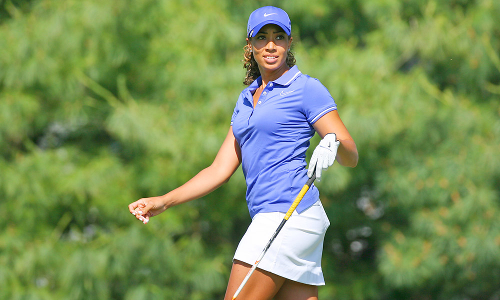 Cheyenne Woods, niece of Tiger Woods, made her pro debut Thursday at the LPGA Championship.