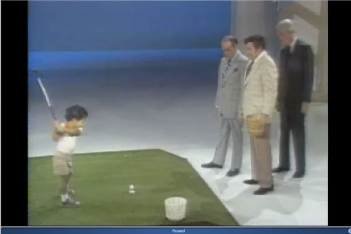 In 1978, he demonstrated his golf skills in a television appearance on The Mike Douglas Show.