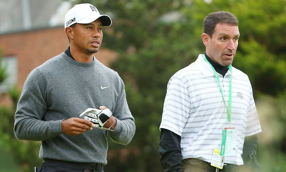 Woods leaves IMG with Steinberg                           In June 2011, Woods announced that he would be leaving the IMG sports agency -- the same agency Mark McCormack founded in 1960 -- to follow longtime agent Mark Steinberg to Excel Sports Management.