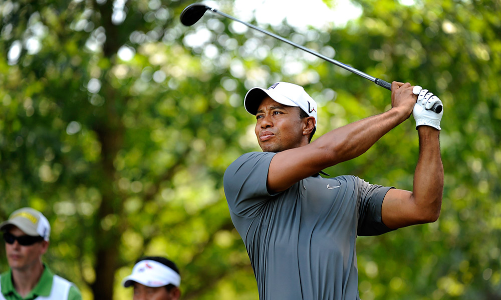 Tiger Woods, who doubles as host at the AT&T, shot 72 in the first round to trail leader Bo Van Pelt by five.