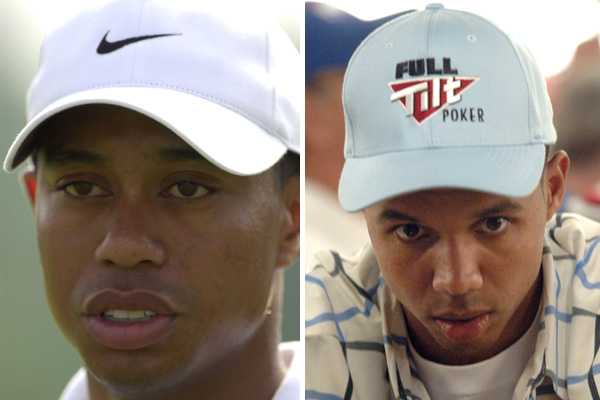 Tiger Woods and professional poker player Phil Ivey