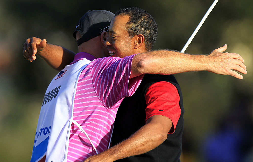 It also marked the first victory for Woods and his new caddie, Joe LaCava.