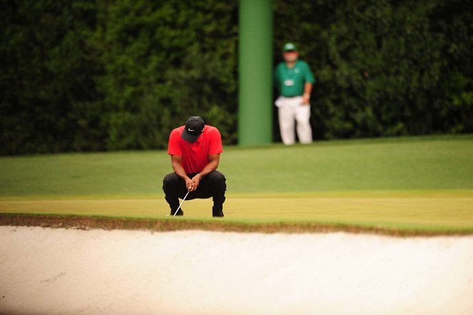 Despite a solid back nine, Woods struggled to get into contention all day.