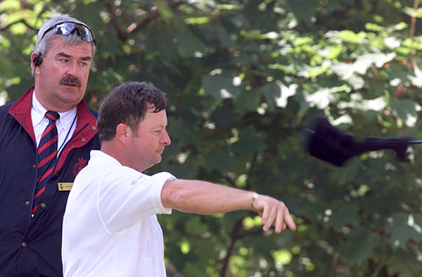 Ian Woosnam tossed a 3-wood after being penalized for having too many clubs in his bag at the 2001 British Open.