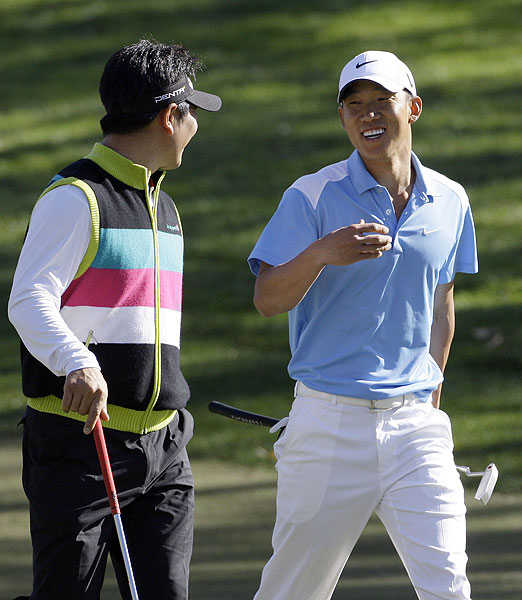 Playing with Anthony Kim (71), Y.E. Yang shot a two-under 70.