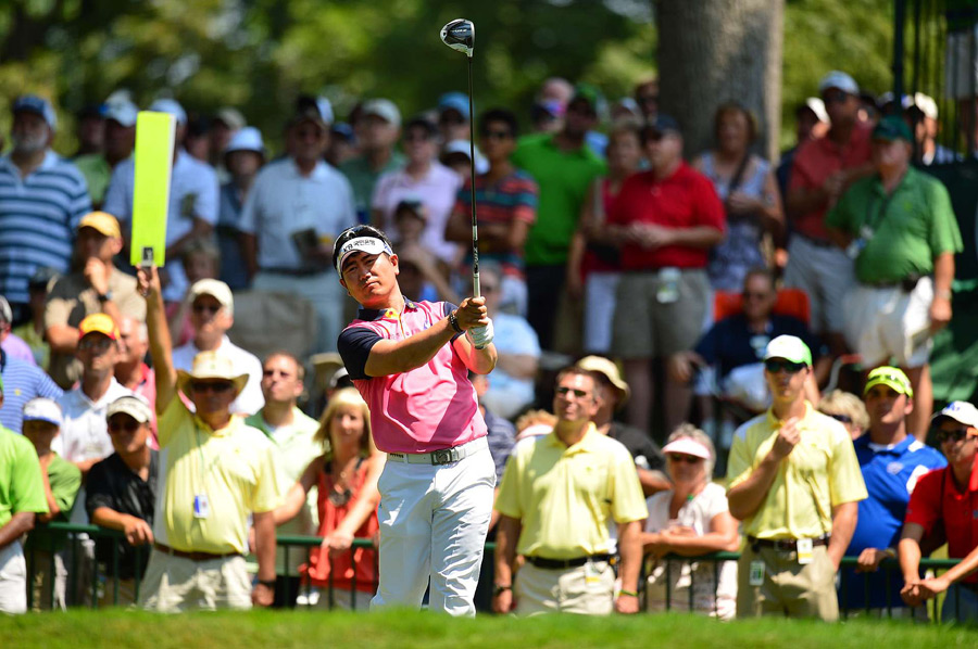 Y.E. Yang made four birdies and three bogeys for a one-under 70.