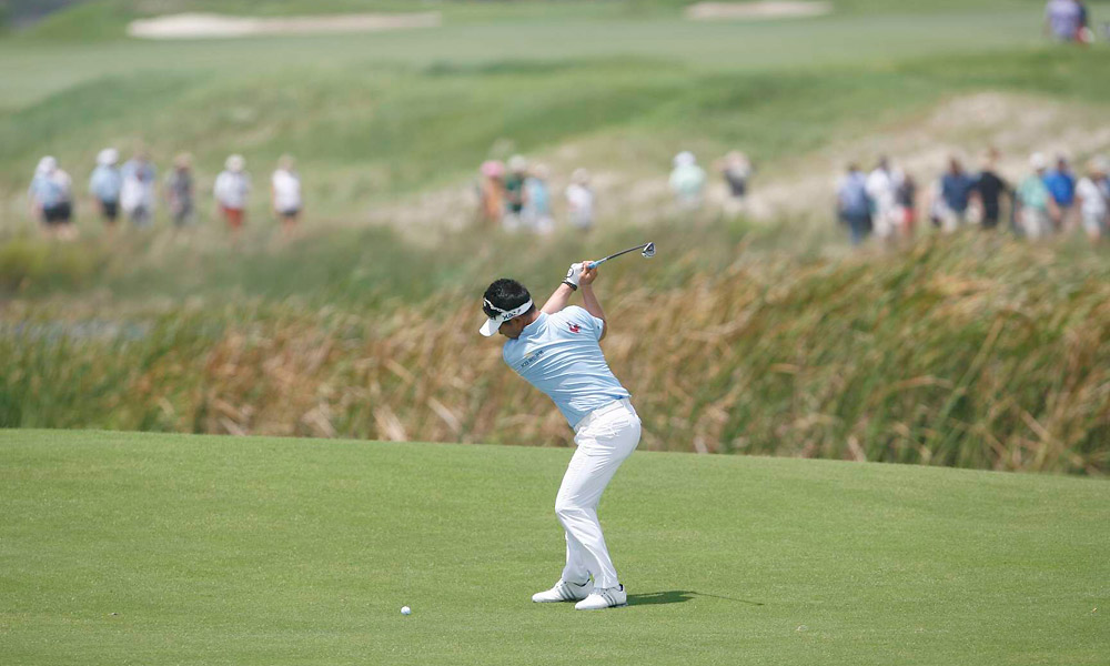 Y.E. Yang shot a two-over 74.