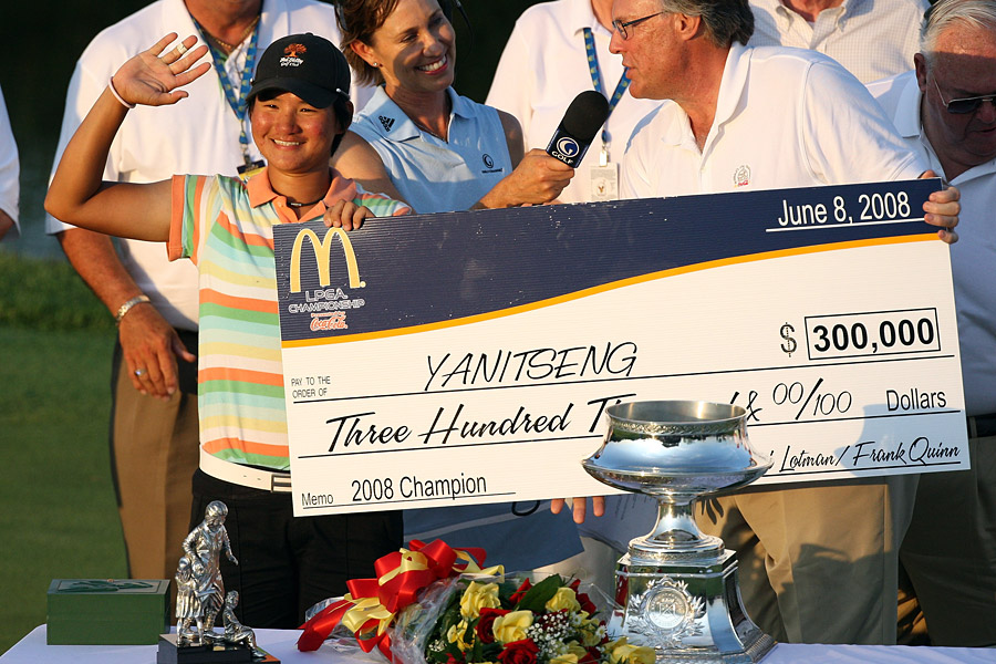 Yani Tseng                       Tseng's career got off to a quick start with three pro wins as an 18-year-old. She followed that start with her first LPGA (and major) victory at the 2008 LPGA Championship when she was 19. By 22, Yani had become the youngest player to win five majors.