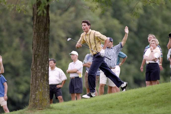 Matt Kuchar follows his shot at the 1997 U.S. Amateur at Cog Hill. Kuchar won the event.