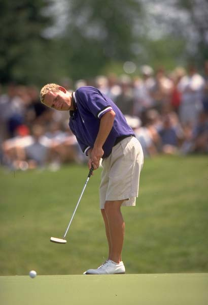Chicago's favorite Englishman Luke Donald plays for Northwestern in 1999.