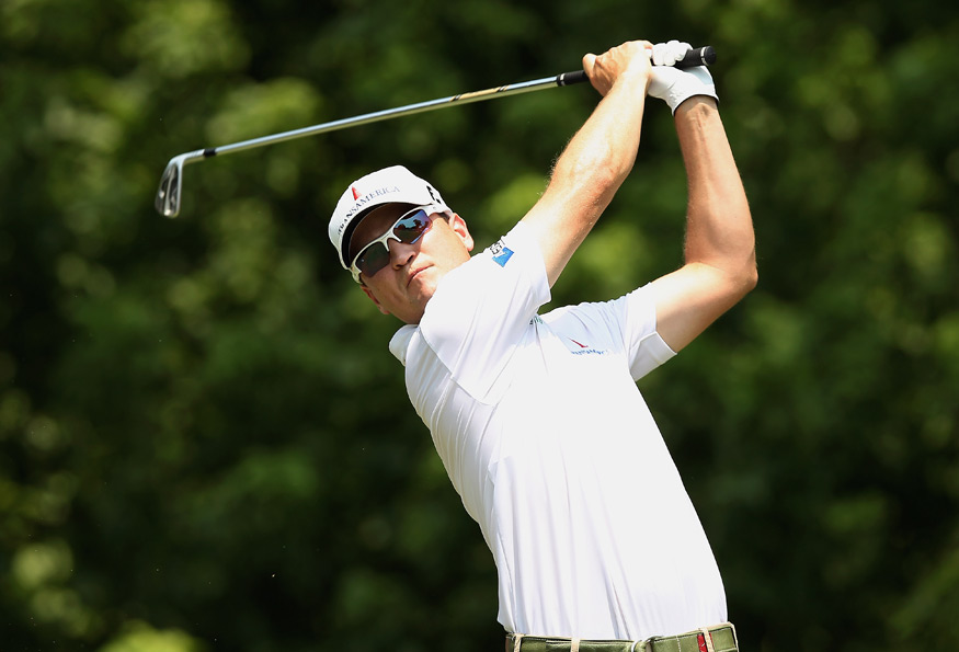 Zach Johnson is two shots off the lead after a three-under 67.