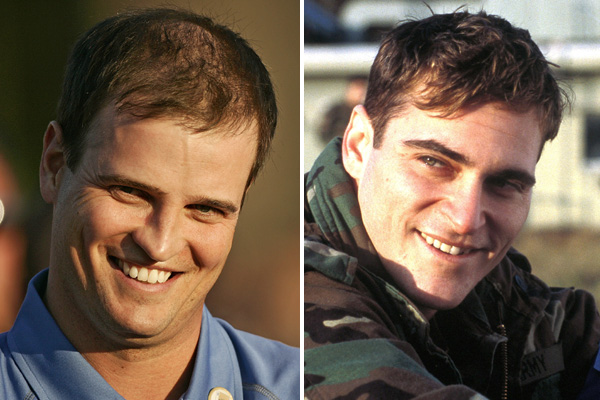 Zach Johnson and actor Joaquin Phoenix
