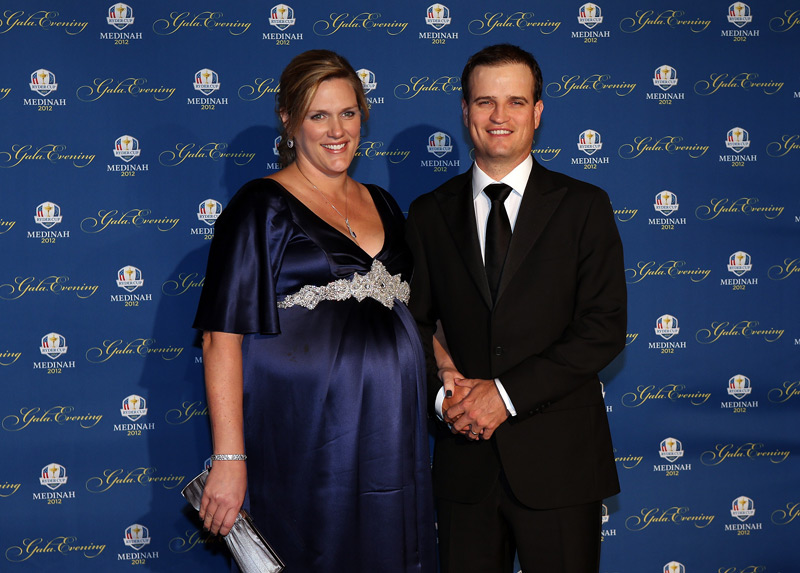 Zach Johnson and his wife, Kim.