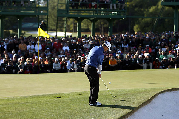 Johnson chipped his third shot on 18 to within inches to seal his first major.