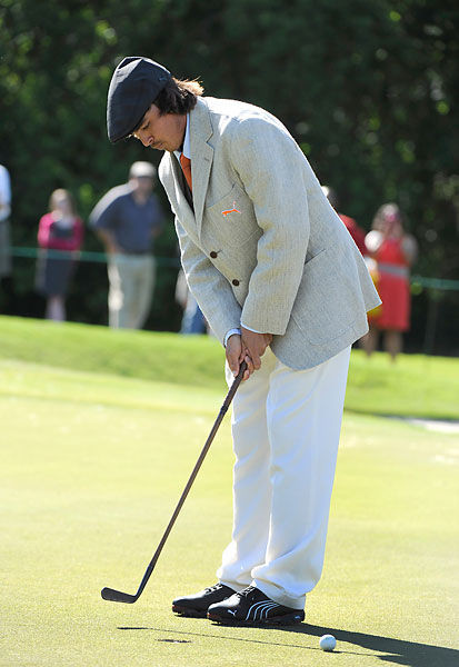At the Zurich Classic in April, Fowler dressed in custom old-fashioned golf togs -- full-cut trousers, tweed cap, jacket and tie -- for a vintage celebration. Not very Rickie.