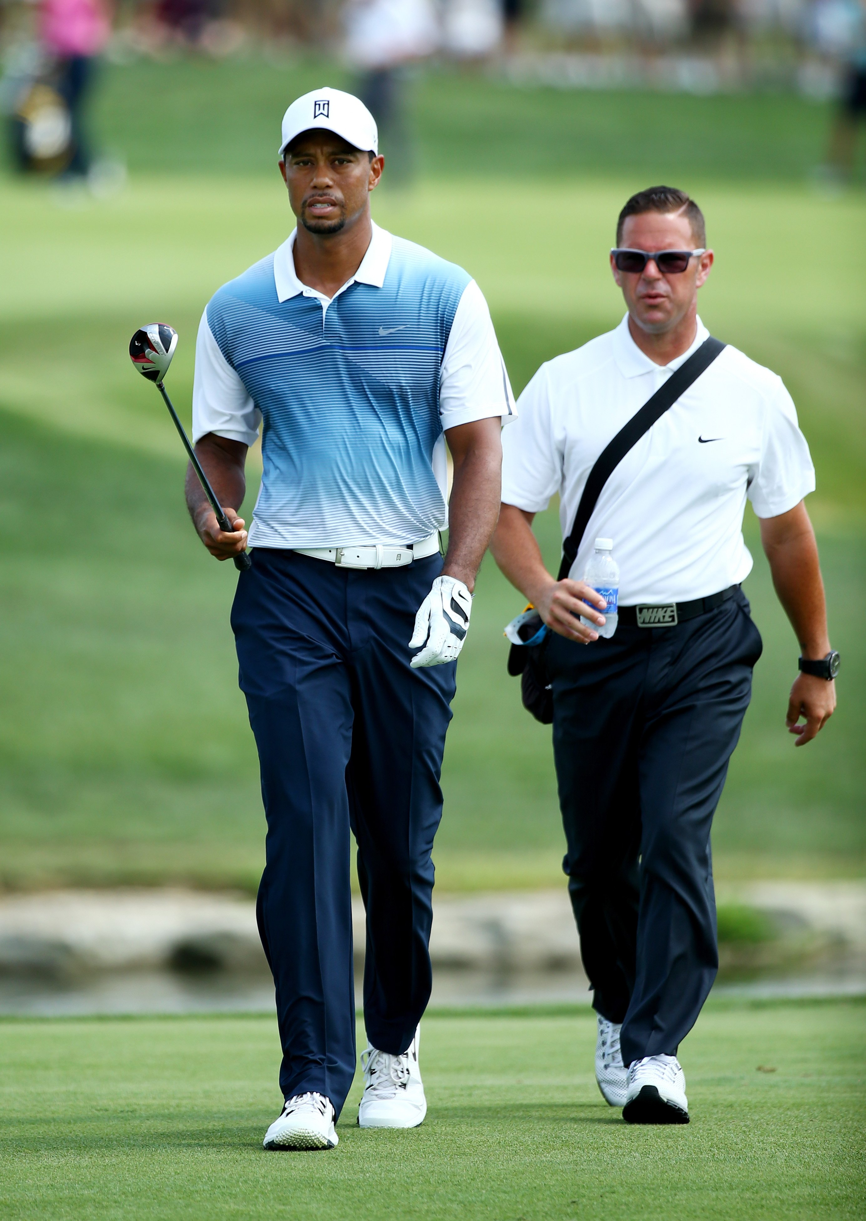 Sean Foley (right) coached Tiger Woods for four years.