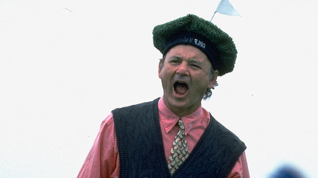 Billy Murray at the Pebble Beach Pro-Am.