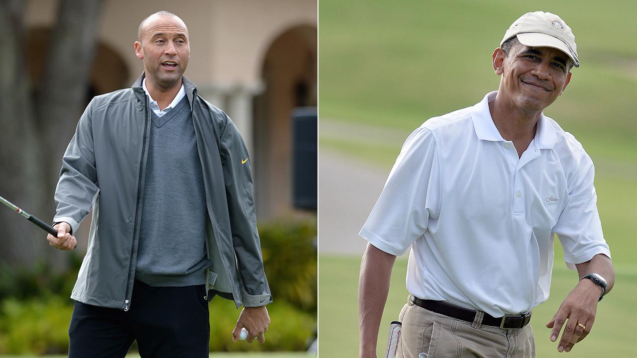 Derek Jeter and Barack Obama shared a round of golf.