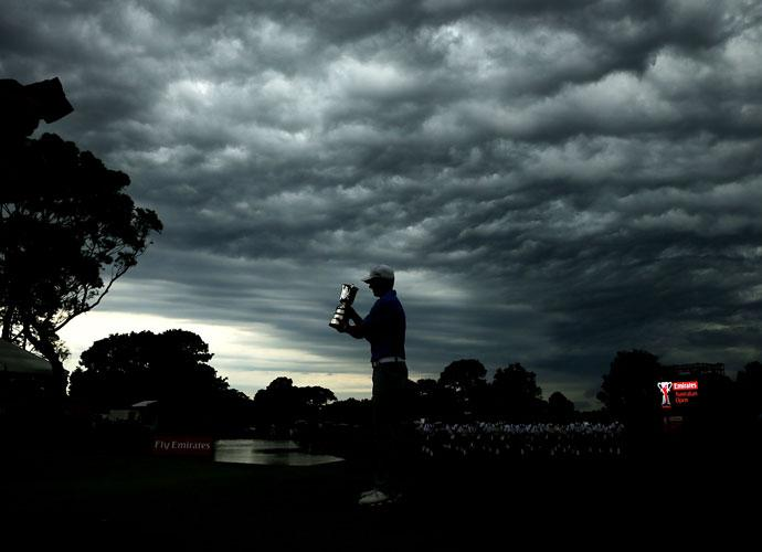 Spieth fought increasingly windy conditions en route to setting the course record at the Jack Nicklaus-designed Australian Golf Club.
