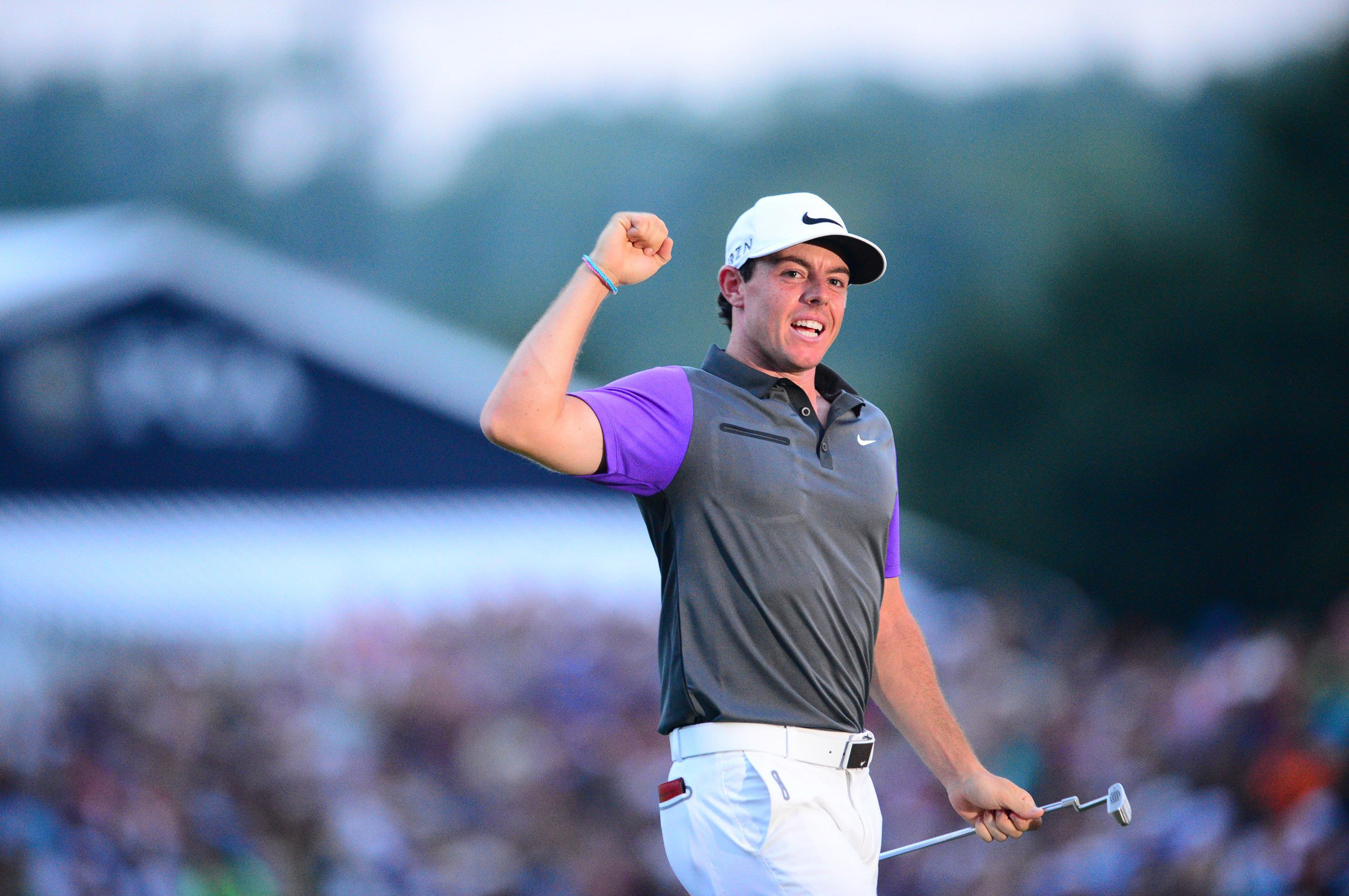 Rory McIlroy celebrates his win at 2014 PGA Championship at Valhalla.