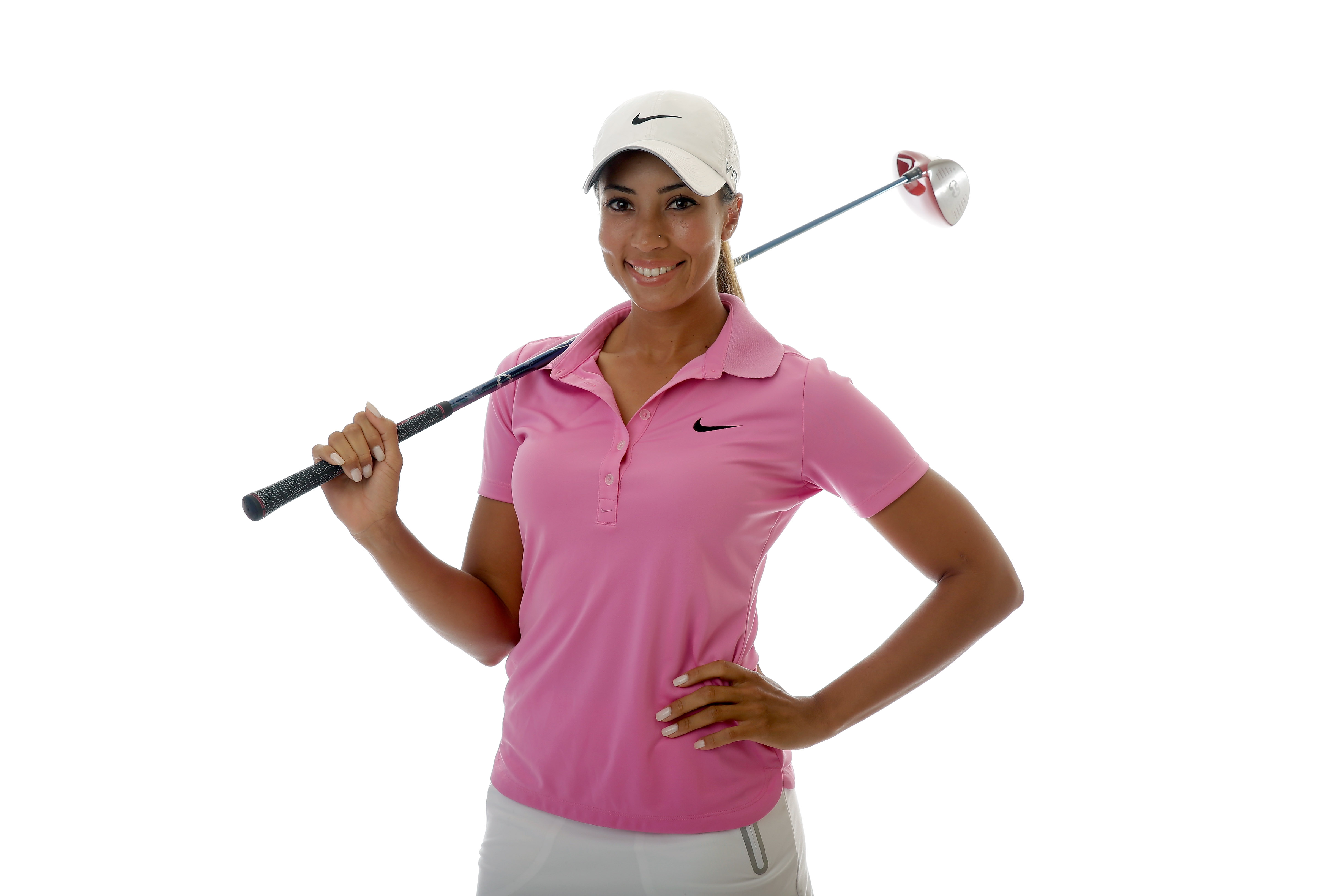 Cheyenne Woods, 24, is the daughter of Tiger's half-brother Earl Jr.