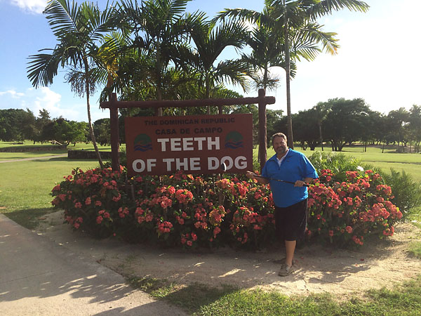 Travelin' Joe Passov at Casa de Campo's Teeth of the Dog in November 2014.
