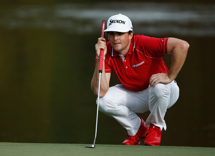 Sporting a conventional flatstick, Keegan Bradley birdied two of his last three holes to move to T3 at 15 under.