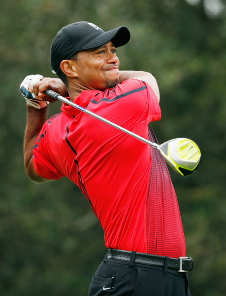 In his first tournament in four months, Tiger Woods finished tied for last with Hunter Mahan after an even-par 72 on Sunday left him at even par for the tournament.