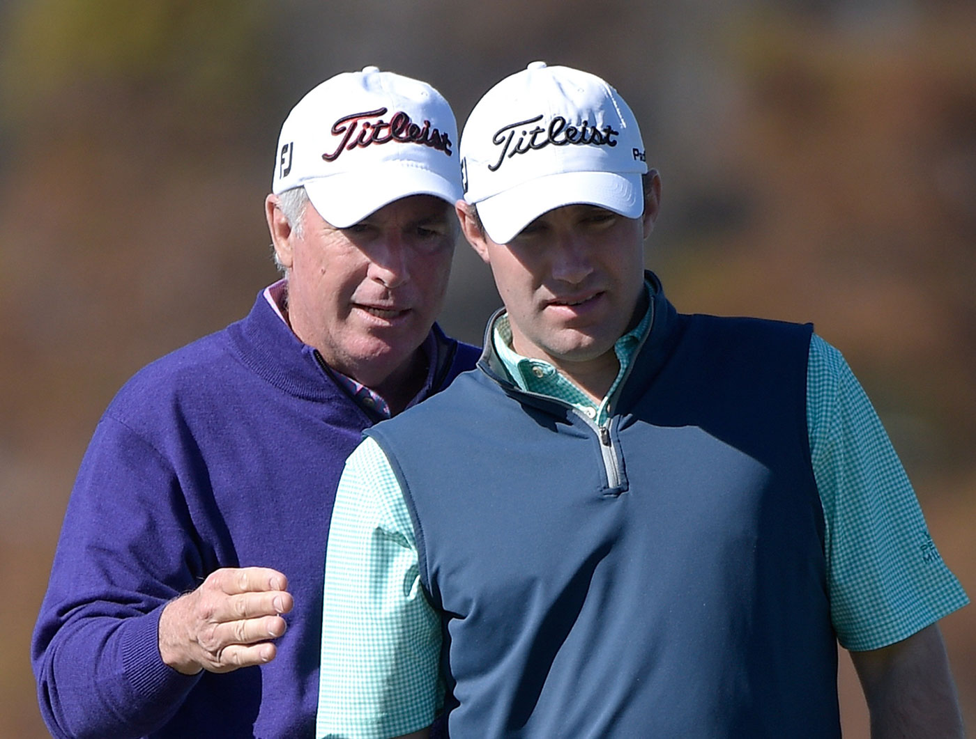 Curtis and Tom Strange share the lead at the Father/Son Challenge.