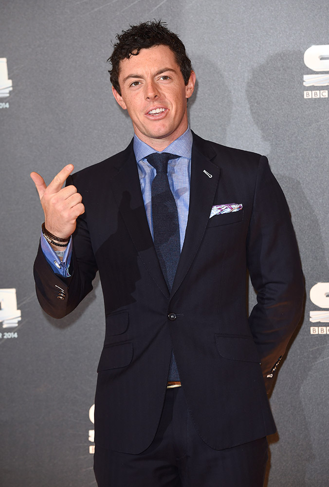 Rory McIlroy attends the BBC Sports Personality of the Year awards at The Hydro in Glasgow, Scotland.