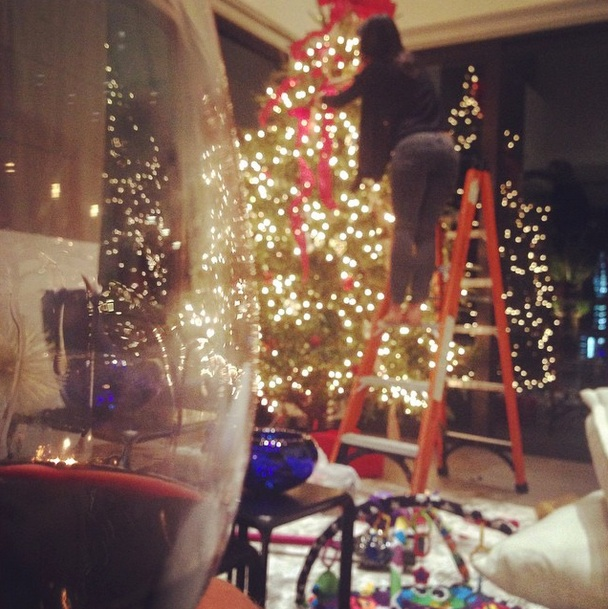 Well I did bring out the ladder!! #Christmas