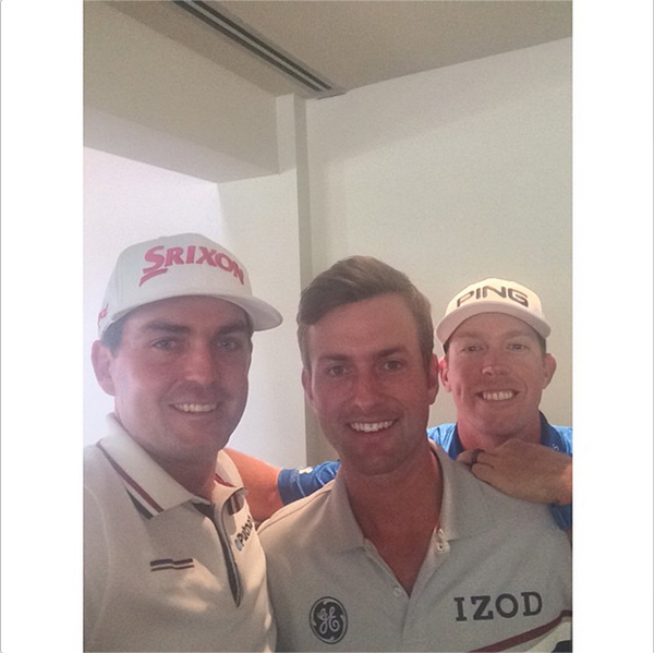 "Keegan Bradley snapped this selfie right after U.S. Ryder Cup Team captain Tom Watson announced his captains picls. Keegan: ""Captains pick selfie #redeemteam"""