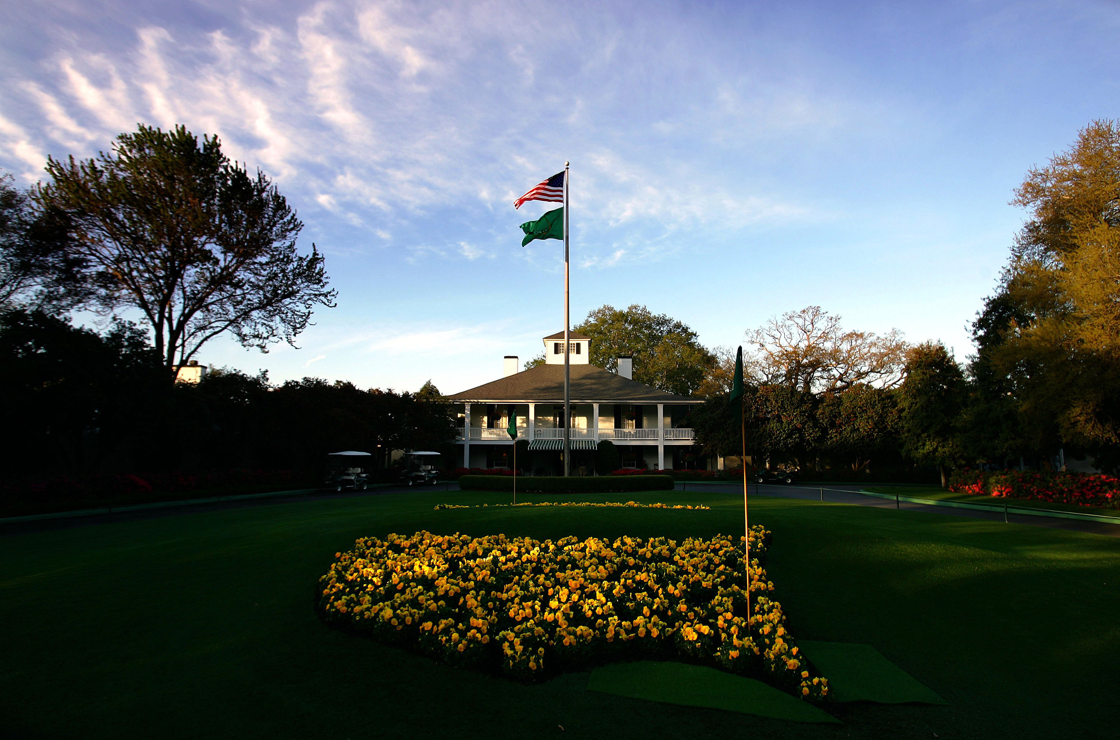 A view of Augusta National Clubhouse in Augusta, Ga., from Magnolia Lane.