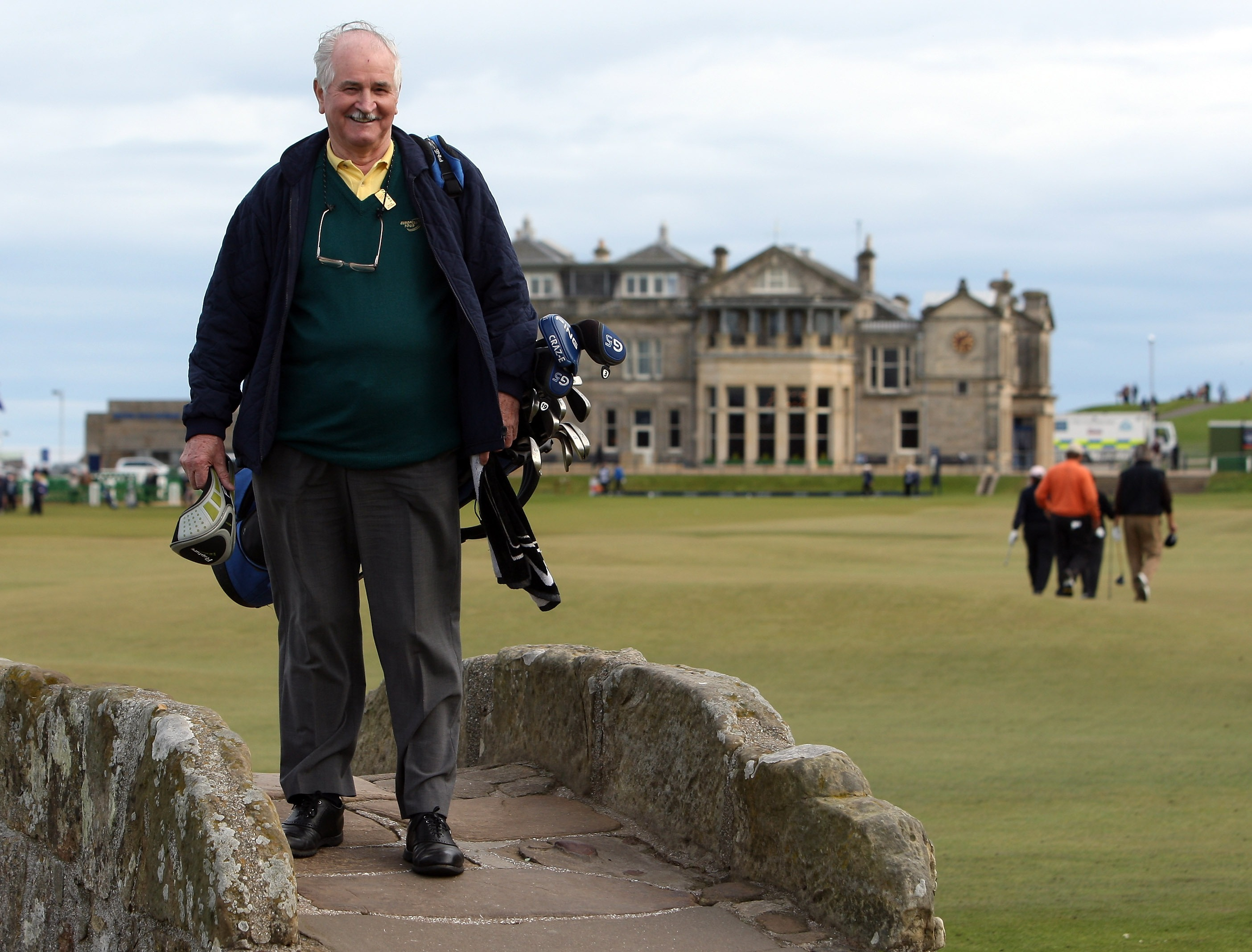 Former Caddie Willie Aitchison on the par four 18th hole hole during first round the Alfred Dunhill Links Championship at The Old Course on October 4, 2007 in St Andrews, Scotland.