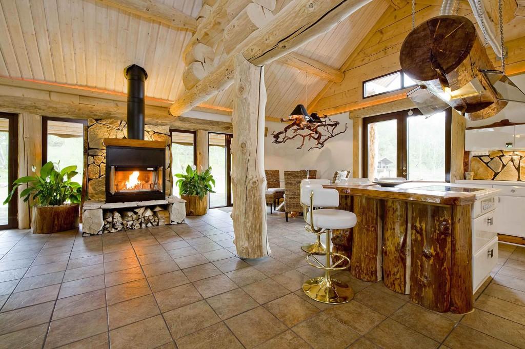 The interior of the villa.