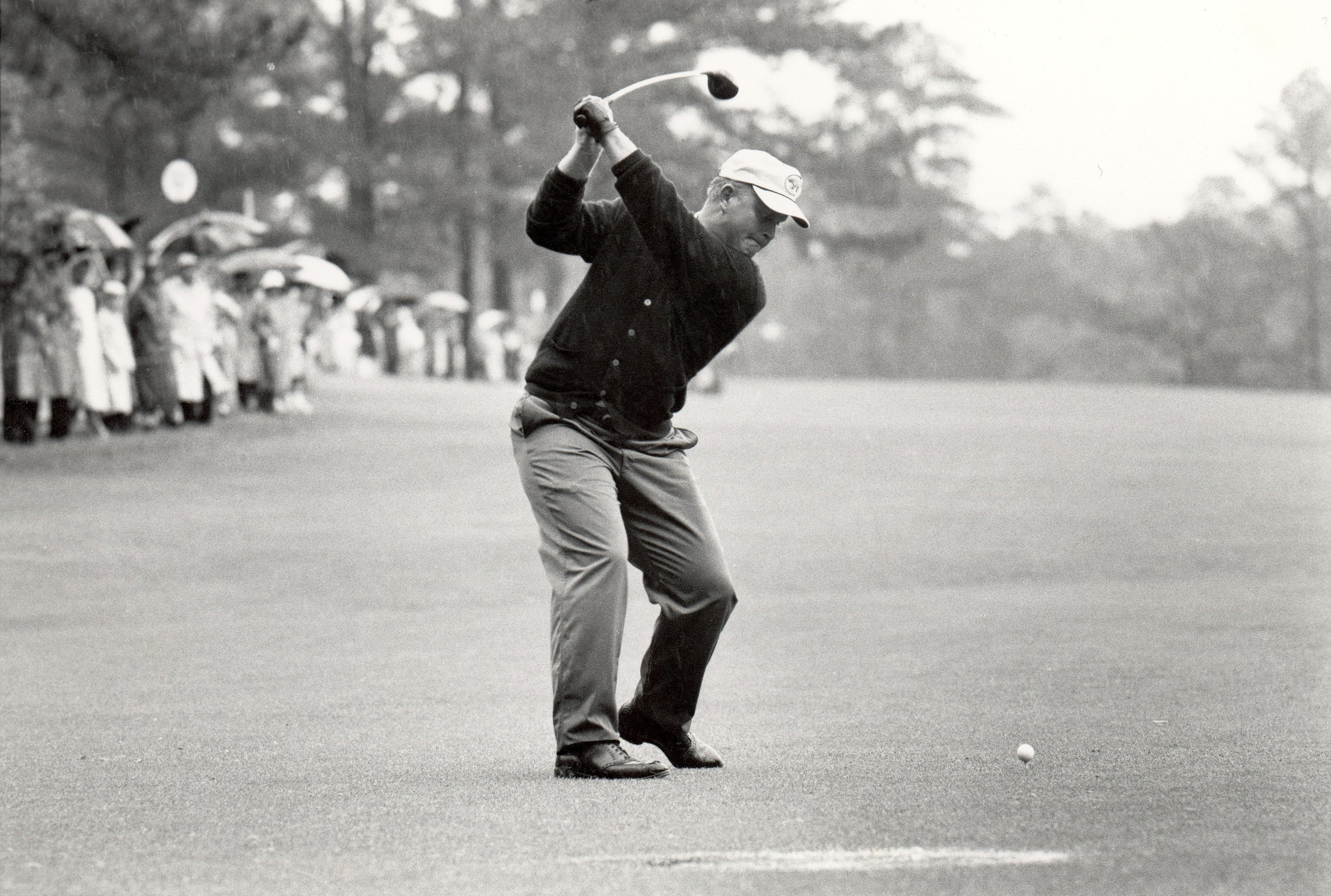 Jack Nicklaus in action in the 1963 Masters Tournament.