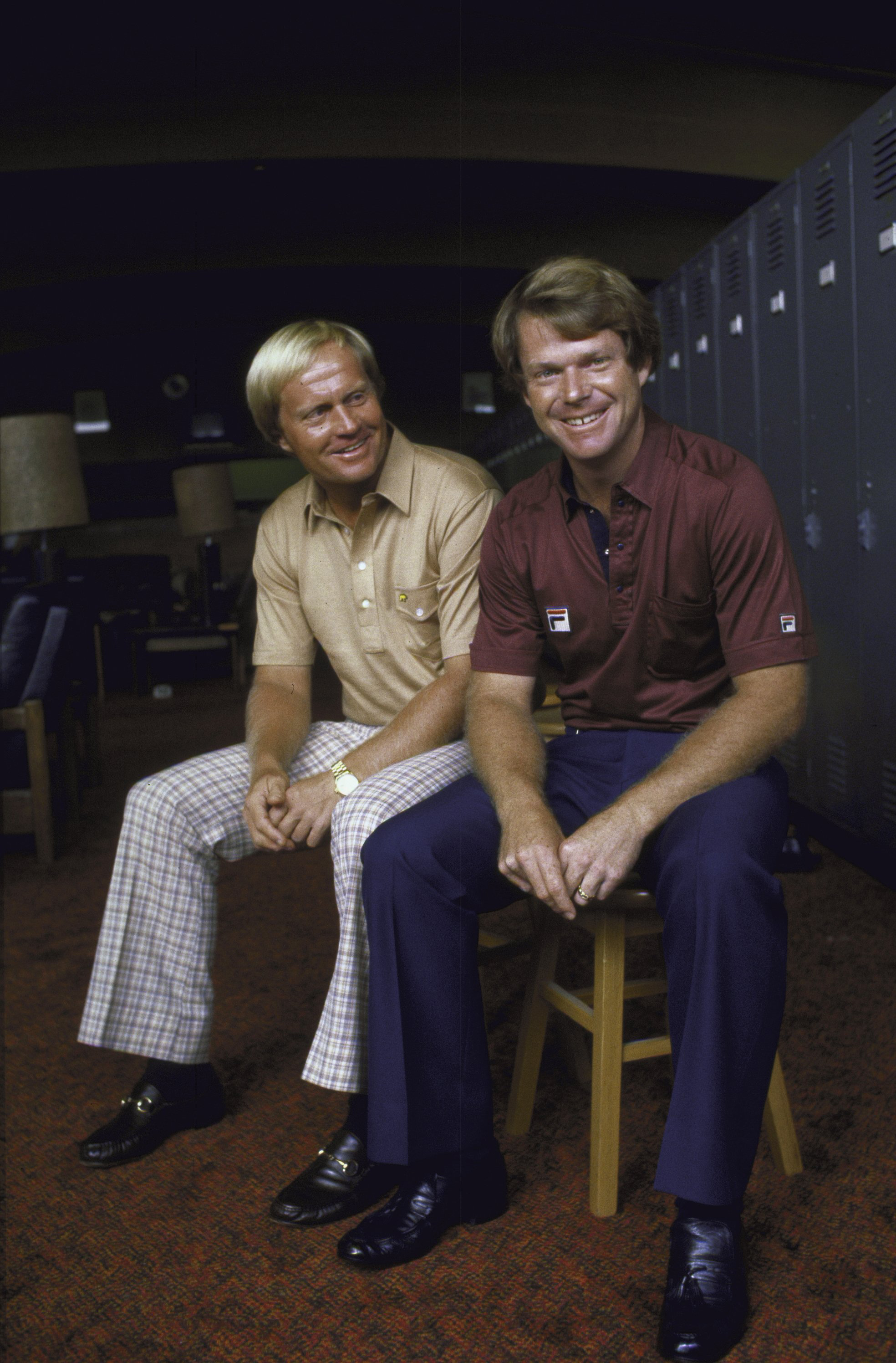 Jack Nicklaus and Tom Watson at Augusta National Golf Club in 1981.