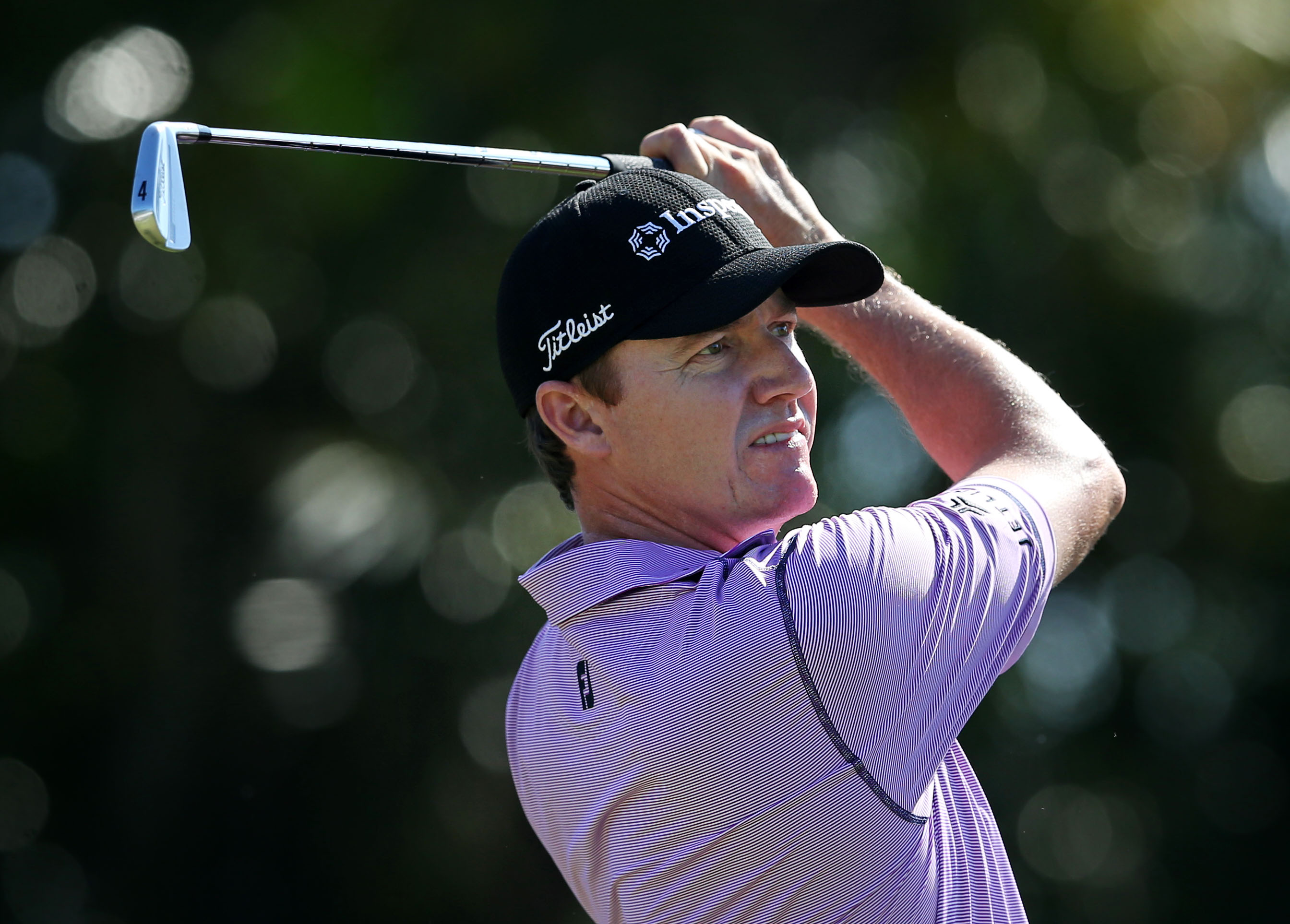 Jimmy Walker tees off on the third hole during the final round of the Sony Open in Hawaii.