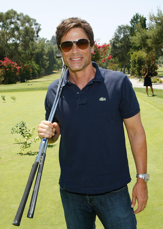 Rob Lowe at a 2009 charity golf event in Tarzana, California.