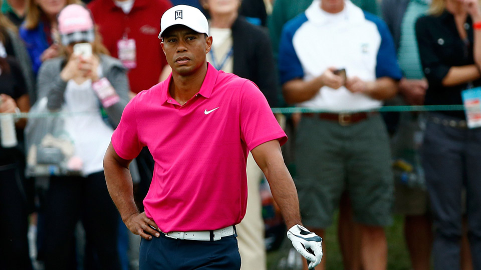 Tiger Woods struggled mightily in his first competitive round of 2015.