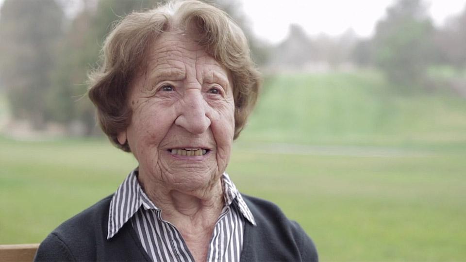 102-year-old Ida Pieracci at San Jose Country Club.