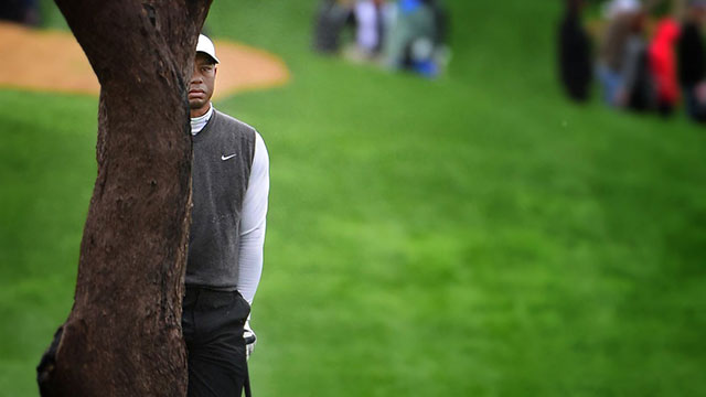 Woods has never shot higher in a Tour event, and his 82 was the worst score posted in the 132-man field.