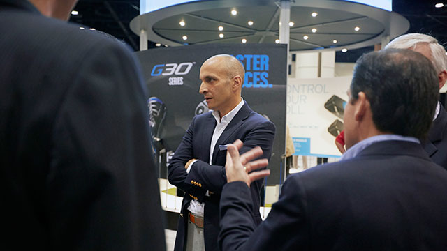 At the PGA Show, Bevacqua talked shop with some of the members he serves.