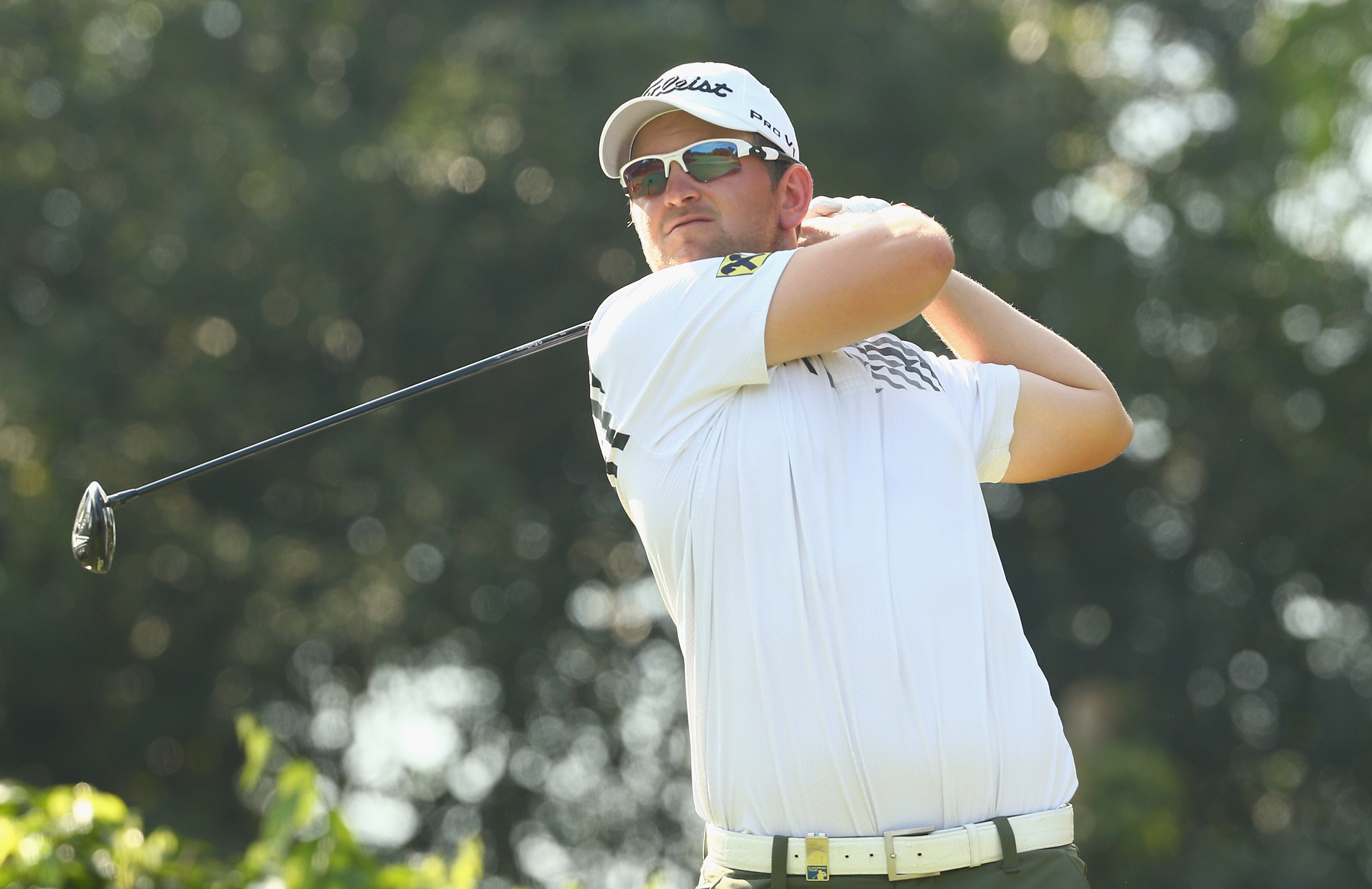 Bernd Wiesberger plays a shot during the third round of the Malaysian Open in Kuala Lumpur on Saturday.