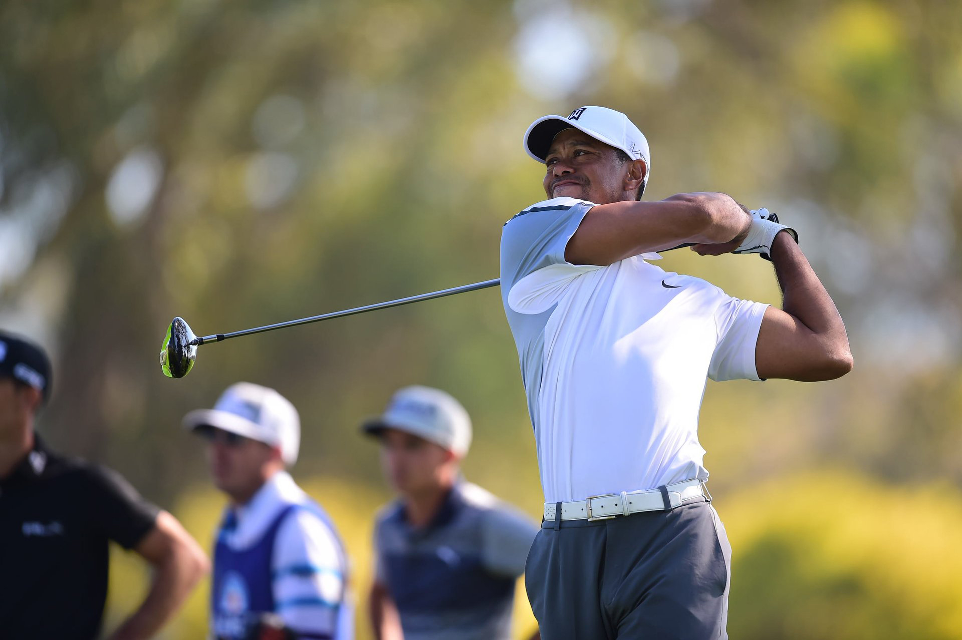 Tiger Woods in the first round of the Famers Insurance Open at Torrey Pines.