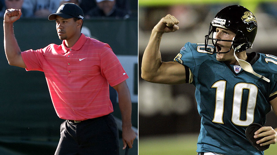 Tiger Woods vs. Josh Scobee and Tiger gets two shots a side. Who you got?