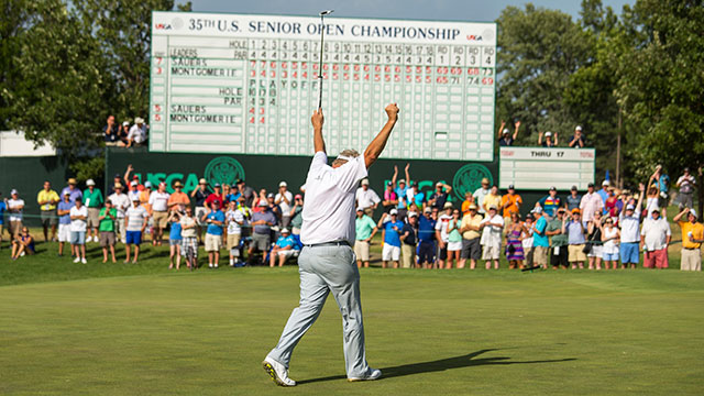 When you're hot, you're hot. Monty claimed the 2014 Senior U.S. Open just seven weeks after his breakthrough win.