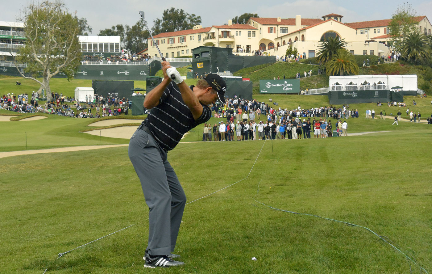 Retief Goosen has a two-shot lead after 54 holes of the Northern Trust Open.