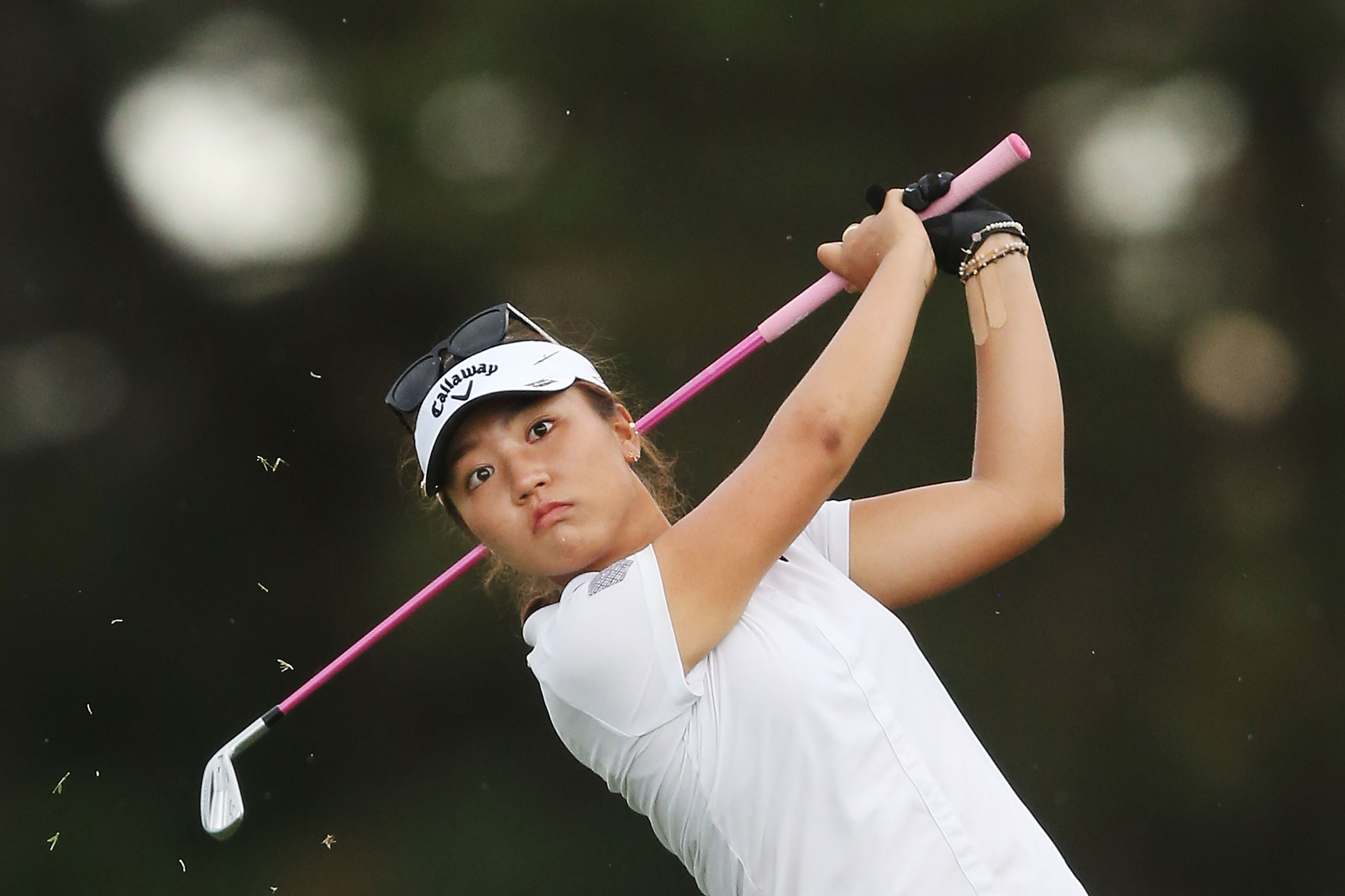 Lydia Ko hits an approach shot on the 12th hole Sunday during the final round of the LPGA Australian Open at Royal Melbourne.