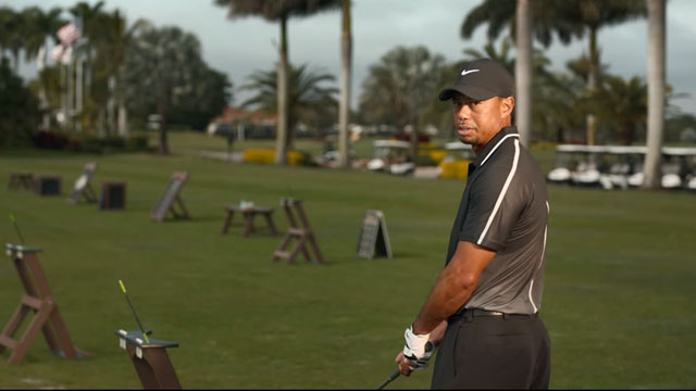 """Tiger Woods' line in the commercial for why he doesn't want to change drivers: """"But I've won 14 majors!"""""""